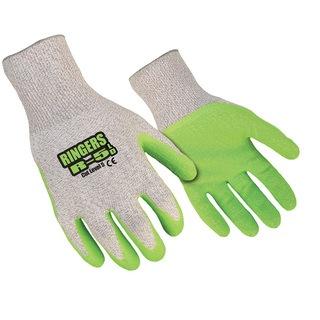R-5LD Cut Level 5 Latex Green Dip Glove