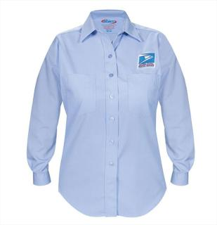Letter Carrier Long Sleeve Dress Shirt-Womens-