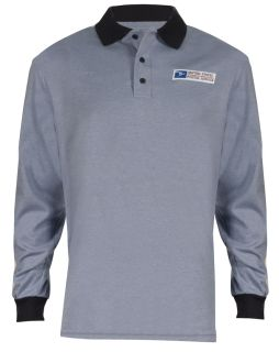 Retail Clerk Knit Polo Long Sleeve Shirts - Mens