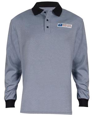Retail Clerk Knit Polo Long Sleeve Shirts - Womens