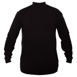 FlexTech Base Layer Mock T-Neck-Black
