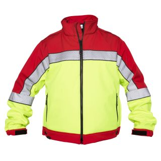 Shield Color Block Soft Shell-Red/HiVis-Elbeco