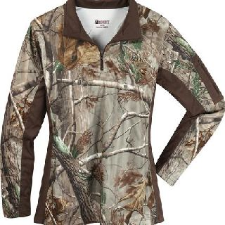 Rocky Shoes Public Safety Shirts Womens 602435 Rocky Silenthunter 1/4 Zip Camo Shirt-Rocky Shoes