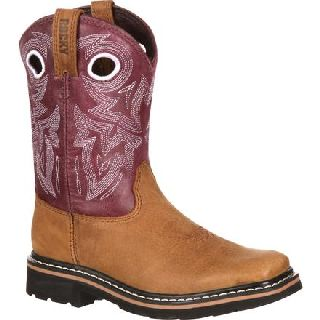 RKW0110 Rocky Farmstead Little Kid Western Boot-Rocky Shoes