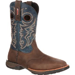 RKW0141 Rocky Lt Steel Toe Saddle Western Boot-