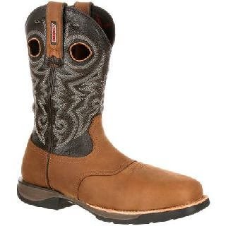 RKW0156 Rocky Lt Composite Toe Waterproof Saddle Western Boot-