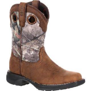 RKW0165 Rocky Lt Little Kid's Waterproof Camo Western Boot