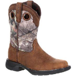 RKW0166 Rocky Lt Big Kid's Waterproof Camo Western Boot-