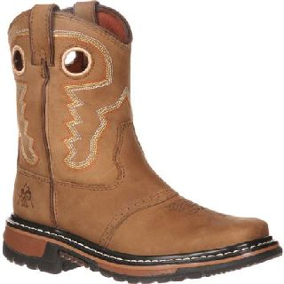 RKYW091 Rocky Ride Big Kid Saddle Western Boot-