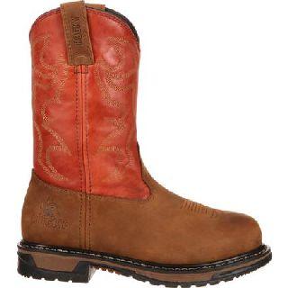 RKYW092 Rocky  Original Ride Steel Toe Western Work Boot-