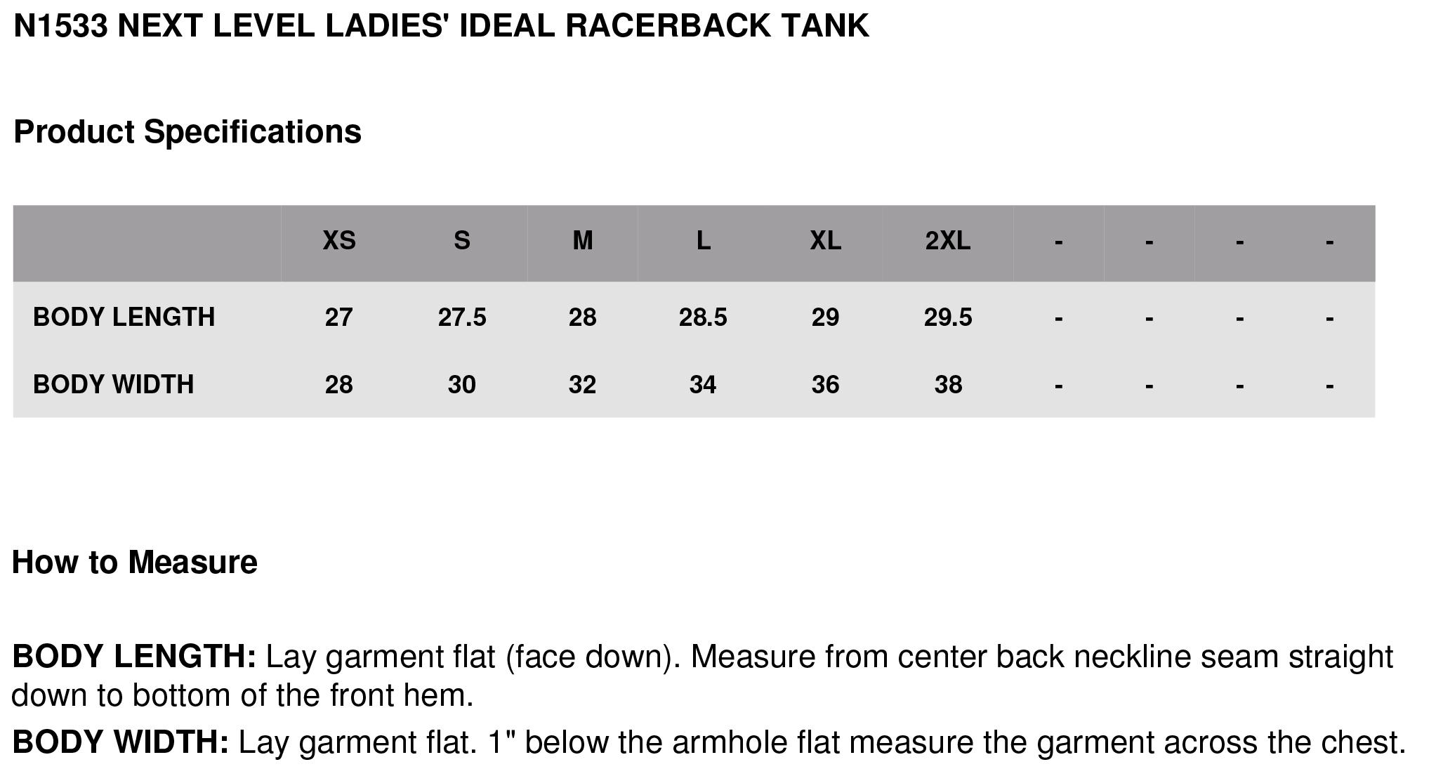Ladies ideal racerback tank next level n1533 wholesale n1533specs g nvjuhfo Gallery