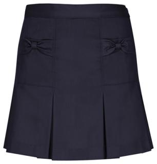 Preschool Girls Bow Pocket Scooter-Classroom School Uniforms