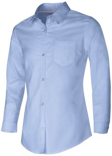 Junior Long Sleeve Oxford Shirt-Classroom School Uniforms