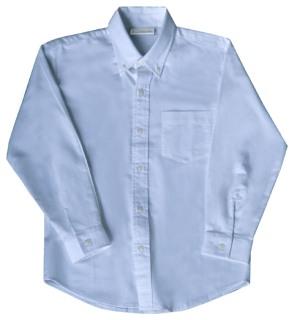 Mens Long Sleeve Oxford Shirt-Classroom School Uniforms