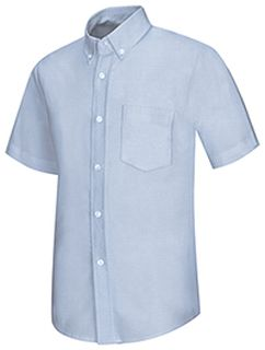 Mens Short Sleeve Oxford-
