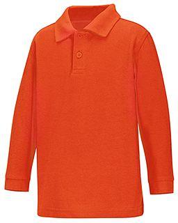 Preschool Long Sleeve Pique Polo-Classroom School Uniforms