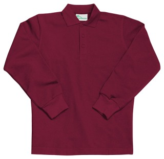 Youth Unisex Long Sleeve Pique Polo-