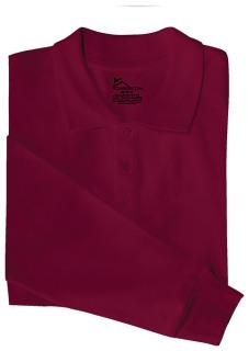Adult Unisex Long Sleeve Pique Polo