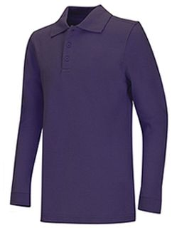 Adult Unisex Long Sleeve Pique Polo-Classroom School Uniforms