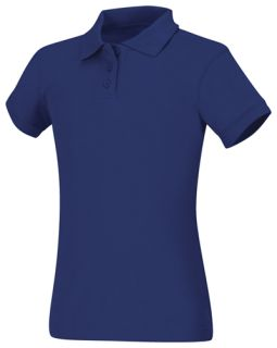Girls Short Sleeve Fitted Interlock Polo-Classroom School Uniforms