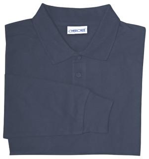 Adult Unisex Long Sleeve Interlock Polo