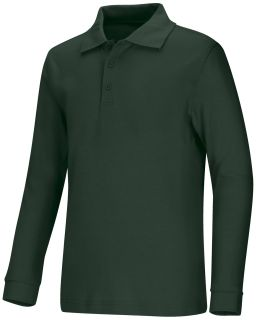 Adult Unisex Long Sleeve Interlock Polo-Classroom School Uniforms