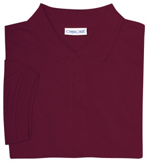 Adult Unisex Short Sleeve Interlock Polo-Classroom School Uniforms