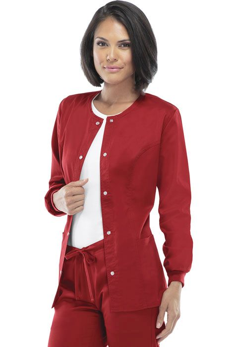 Luxe Ladies Snap Front Warm-Up Jacket - 1330-