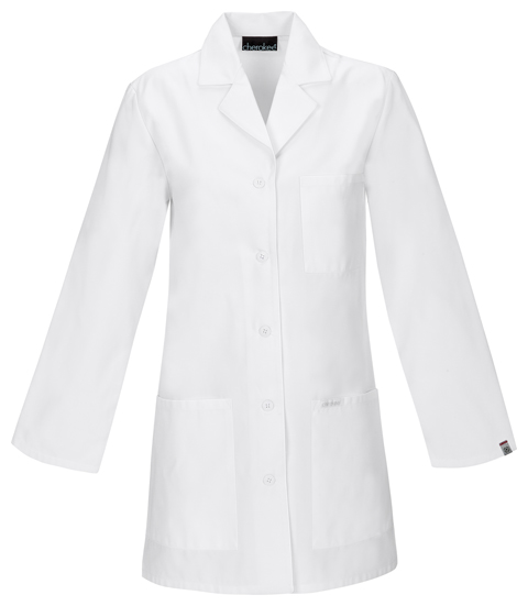 "Cherokee Professional Whites with Certainty Plus  Antimicrobial w/ Fluid Barrier 32"" Lab Coat-Cherokee Medical"