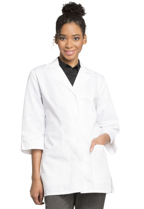 "Cherokee 30"" 3/4 Sleeve Lab Coat - Antimicrobial w/Fluid Barrier-Cherokee Medical"