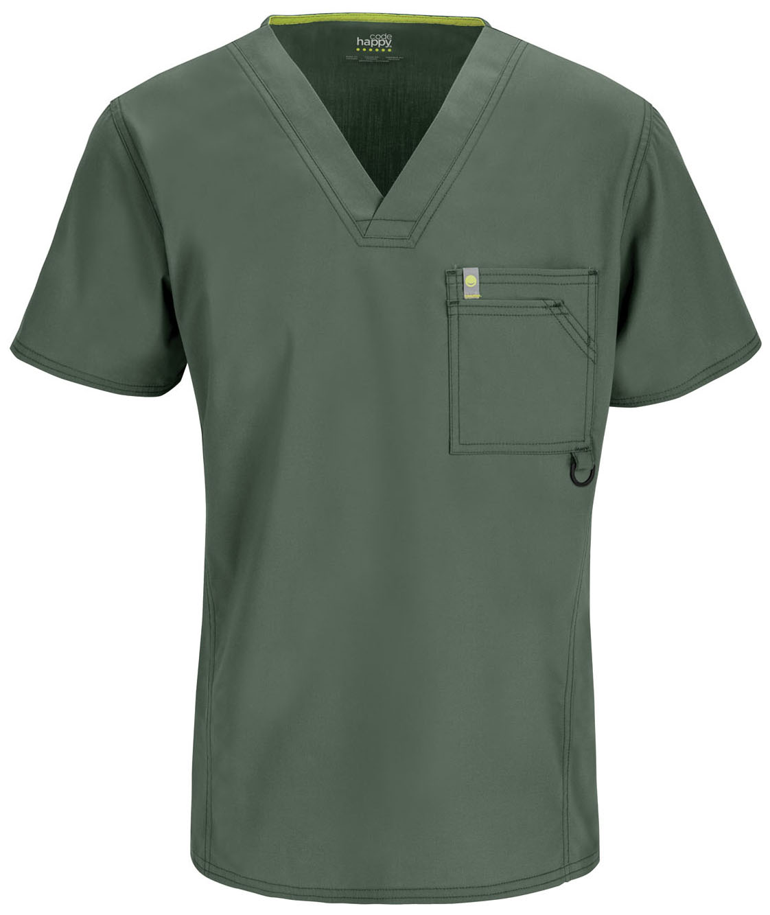 DEAL - Code Happy Men's Sporty V-Neck - Antimicrobial w/Fluid Barrier-