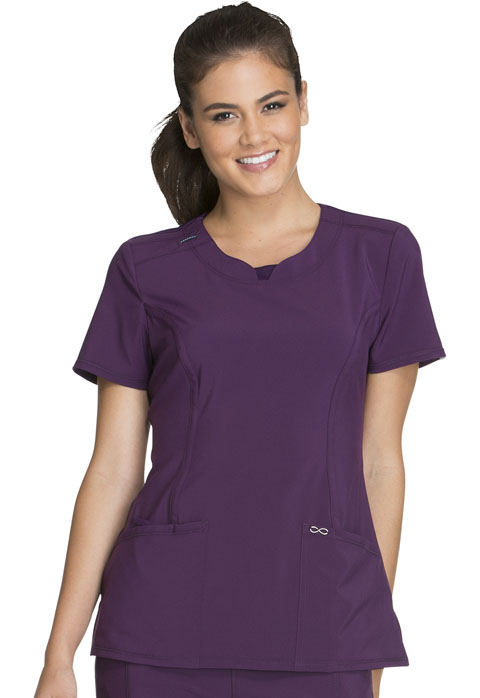 Infinity 3 Pocket Round Neck Top-Cherokee Medical