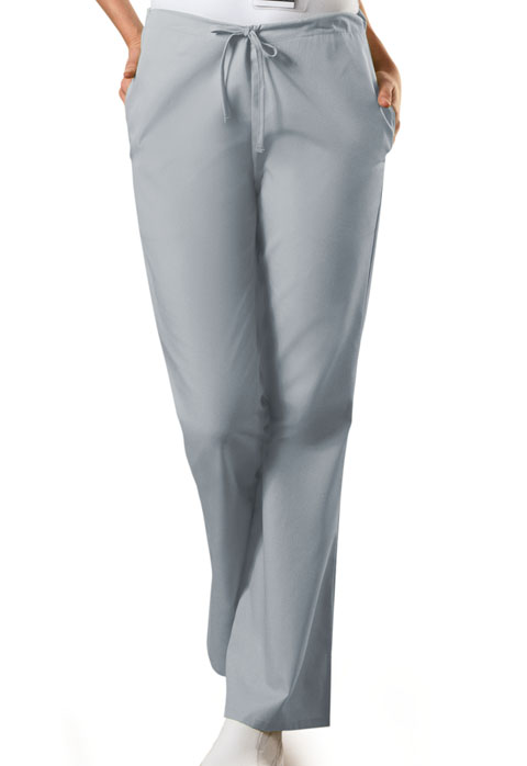 Natural Rise Flare Leg Drawstring Pant-Cherokee Workwear