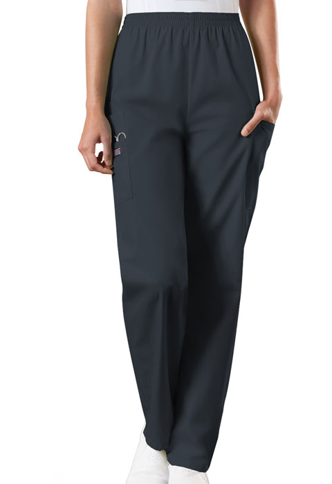 Natural Rise Tapered Pull-On Cargo Pant-Cherokee Workwear