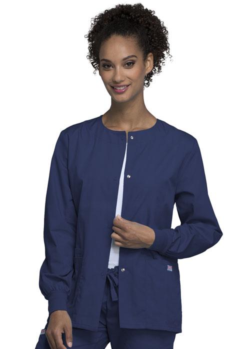4350 Snap Front Warm-Up Jacket-Cherokee Workwear