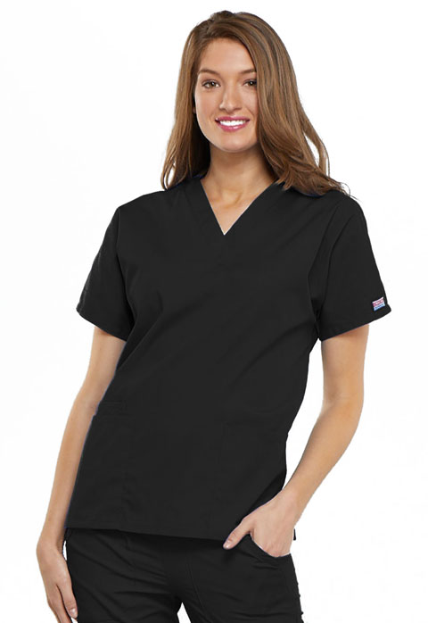 Ladies V-Neck Scrub Top-Cherokee Workwear