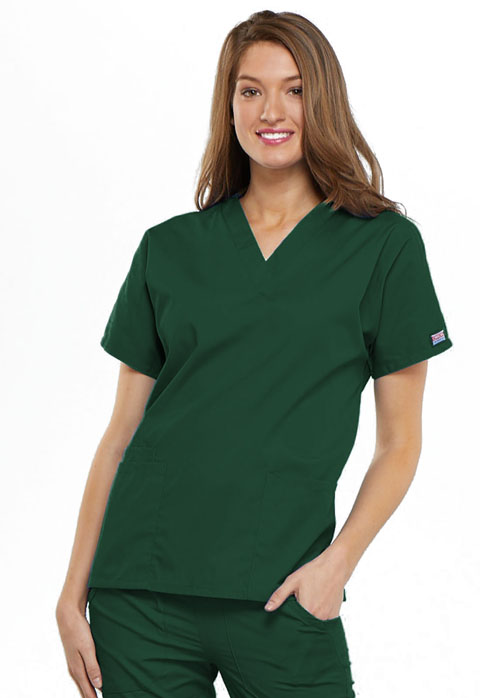 Ladies V-Neck Scrub Top-