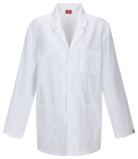 "Dickies EDS Professional Whites w/ Certainty 31"" Men's Lab Coat-"