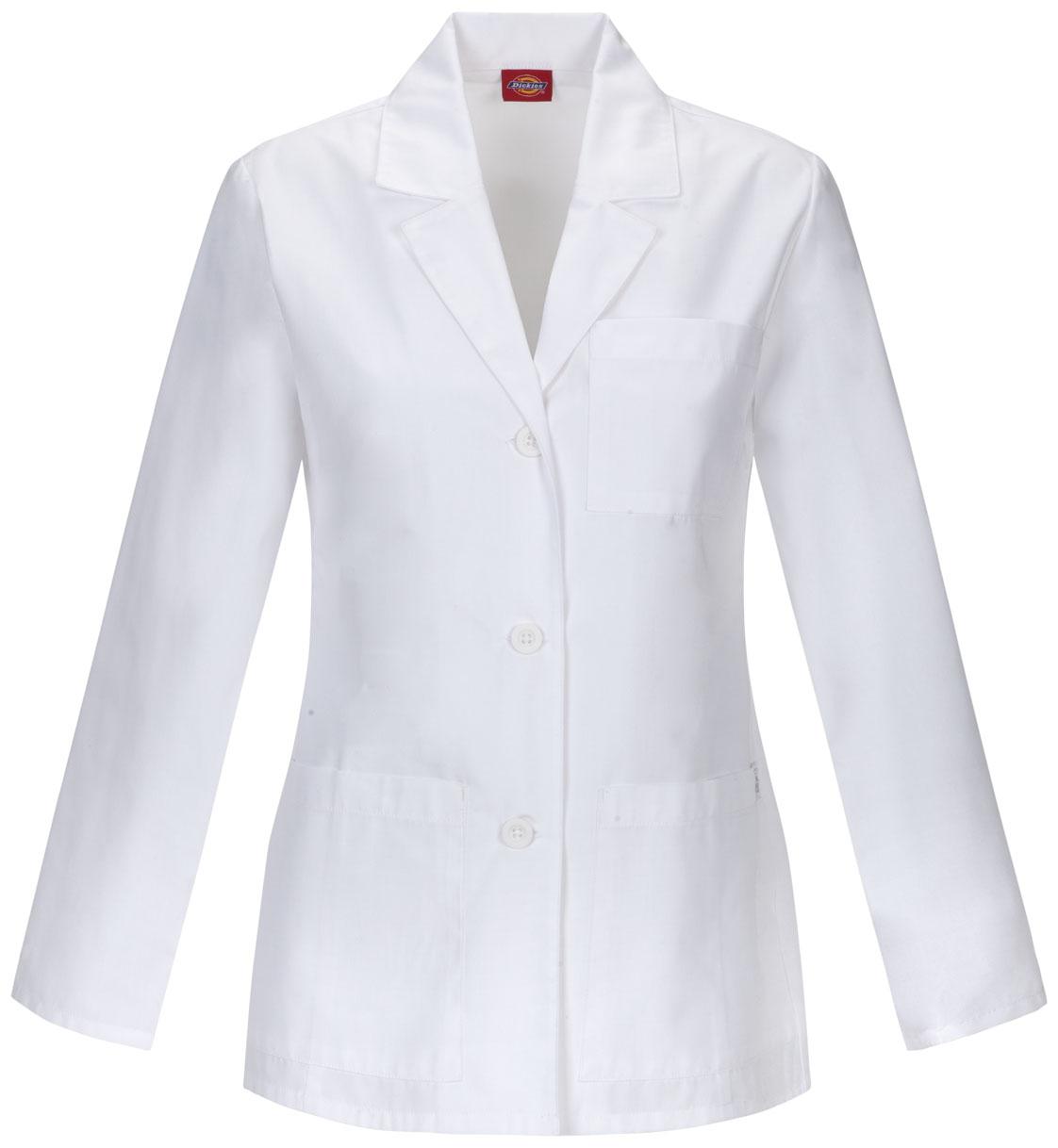 "Dickies EDS Professional Whites w/ Certainty Plus 28"" Lab Coat-"