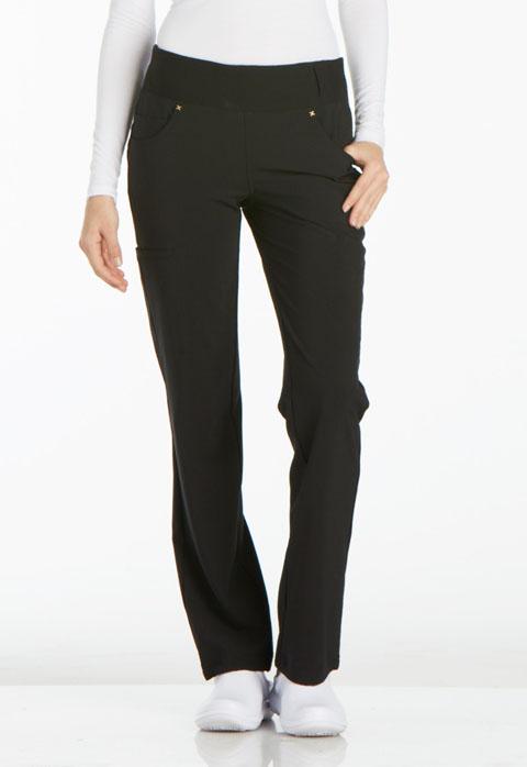 Mid Rise Straight Leg Pull-on Pant-Cherokee Medical