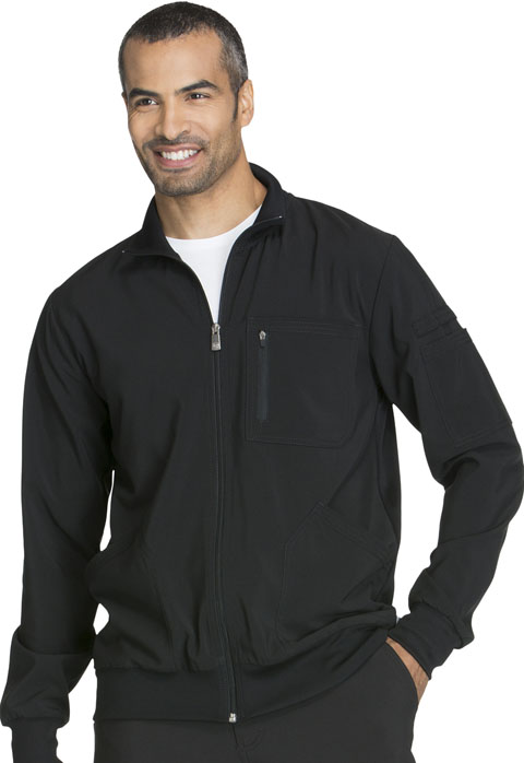 Cherokee Certainy Men's 4 Pocket Zip Front Warm-up Scrub Jacket