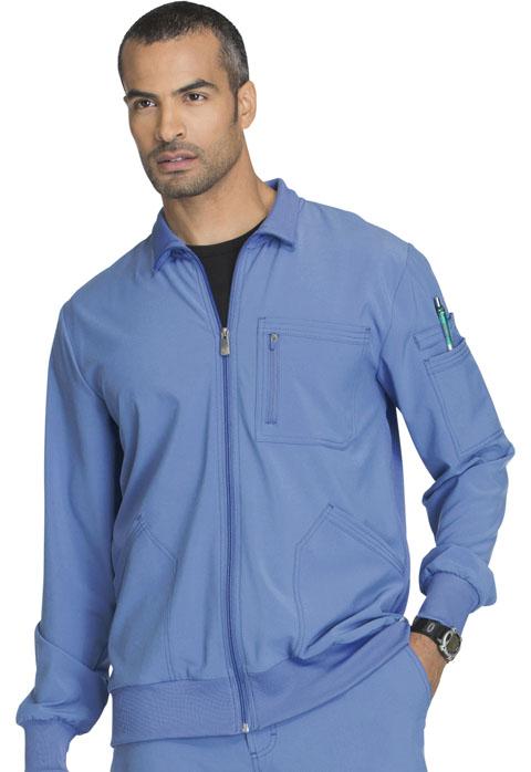 Cherokee Scrubs Men Zip Front Jacket CK305A WTPS White ...