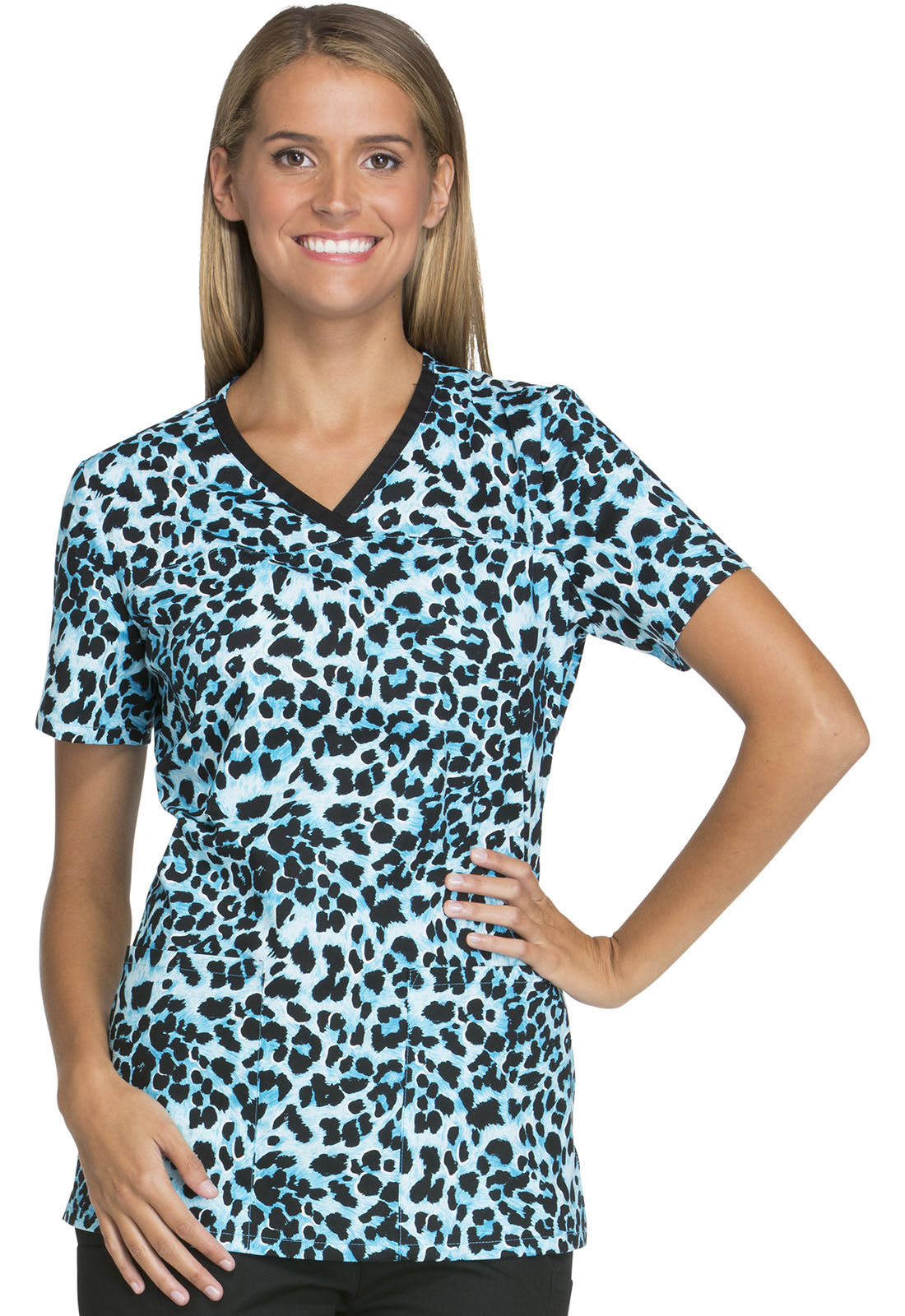 Cherokee Crossover V-Neck Scrub Top-Cherokee Medical