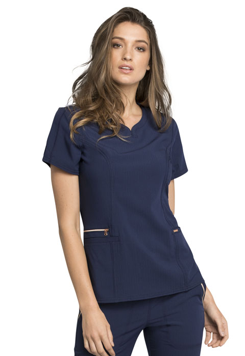 Statement Zipper Pocket Top-Cherokee Medical