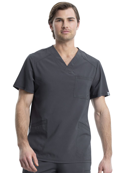 Cherokee Certainty Antimicrobial 3 Pocket Men's V-Neck Scrub Top-