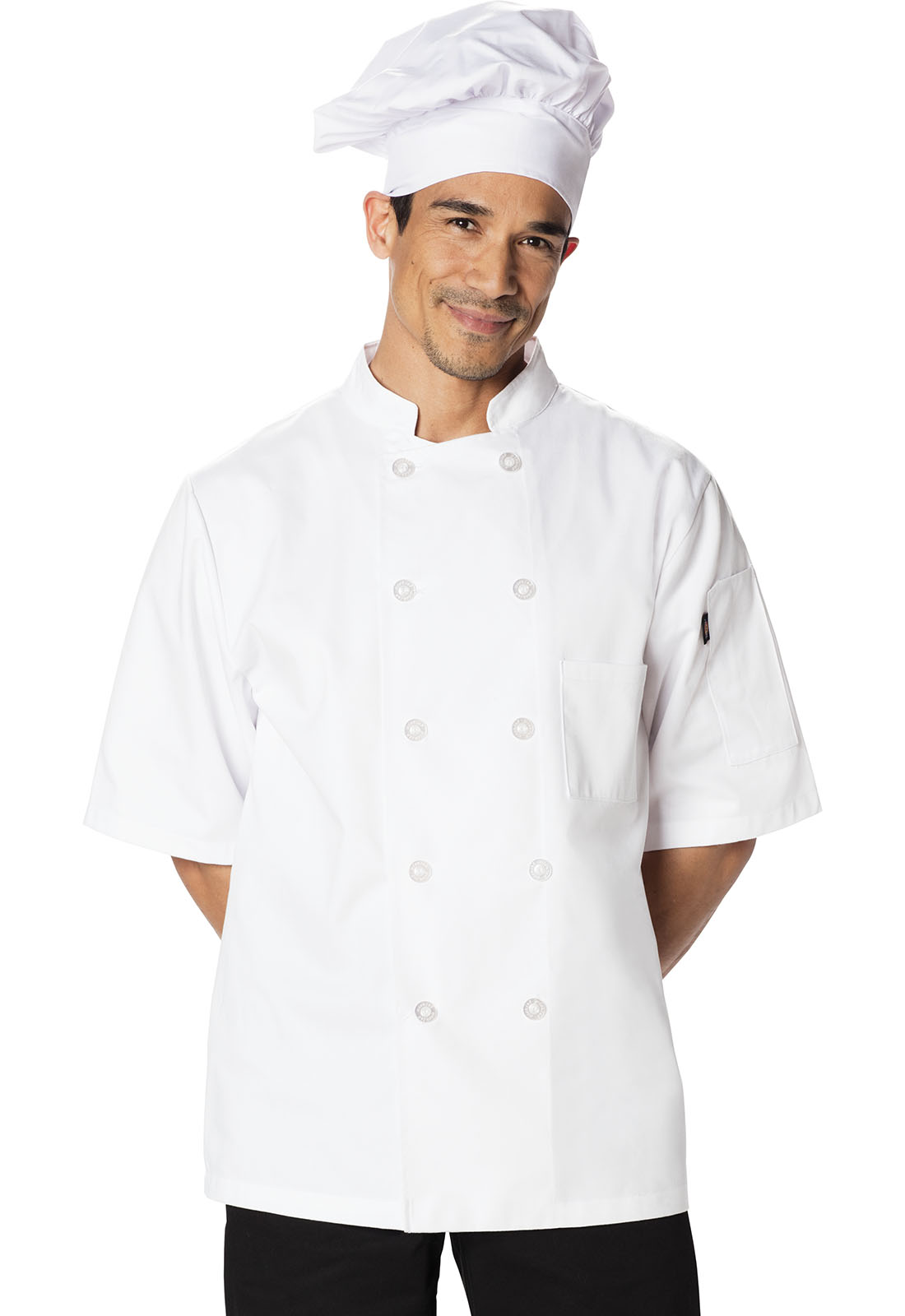 Classic 10 Button Chef Coat S/S-Dickies Chef