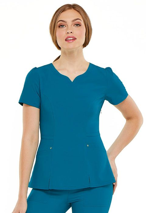 Heartsoul Scrubs Women/'s Medical Two Patch Pockets Contemporary V-Neck Top HS670