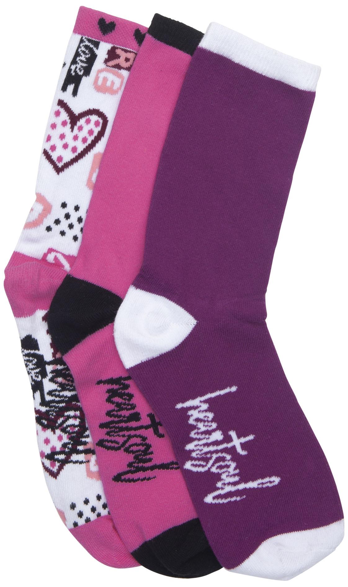 NEW 1-3pr pack of Crew Socks - Love Is Magic-Heartsoul