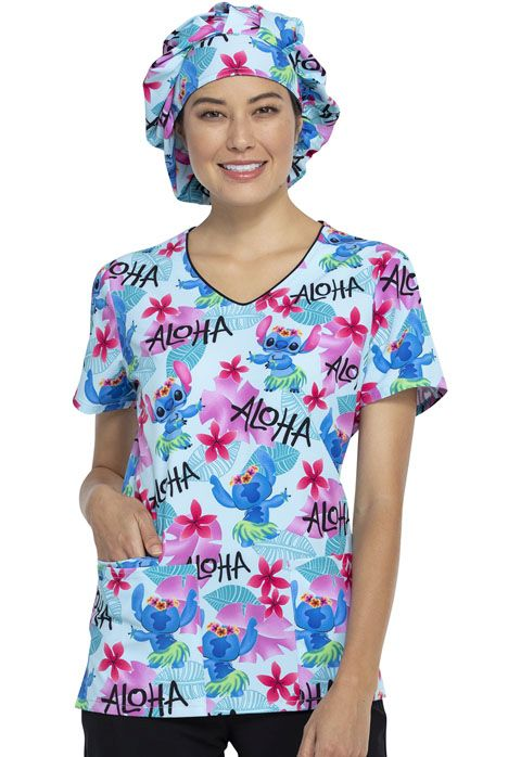 Adjustable Bouffant Print Scrub Hat-Tooniforms