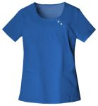 Round Neck Pin-Tuck Top-